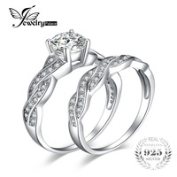 Brilliant Cut 1 5ct Dazzling AAA Cubic Zirconia 925 Solid Sterling Silver Engagement Wedding Infinity Ring