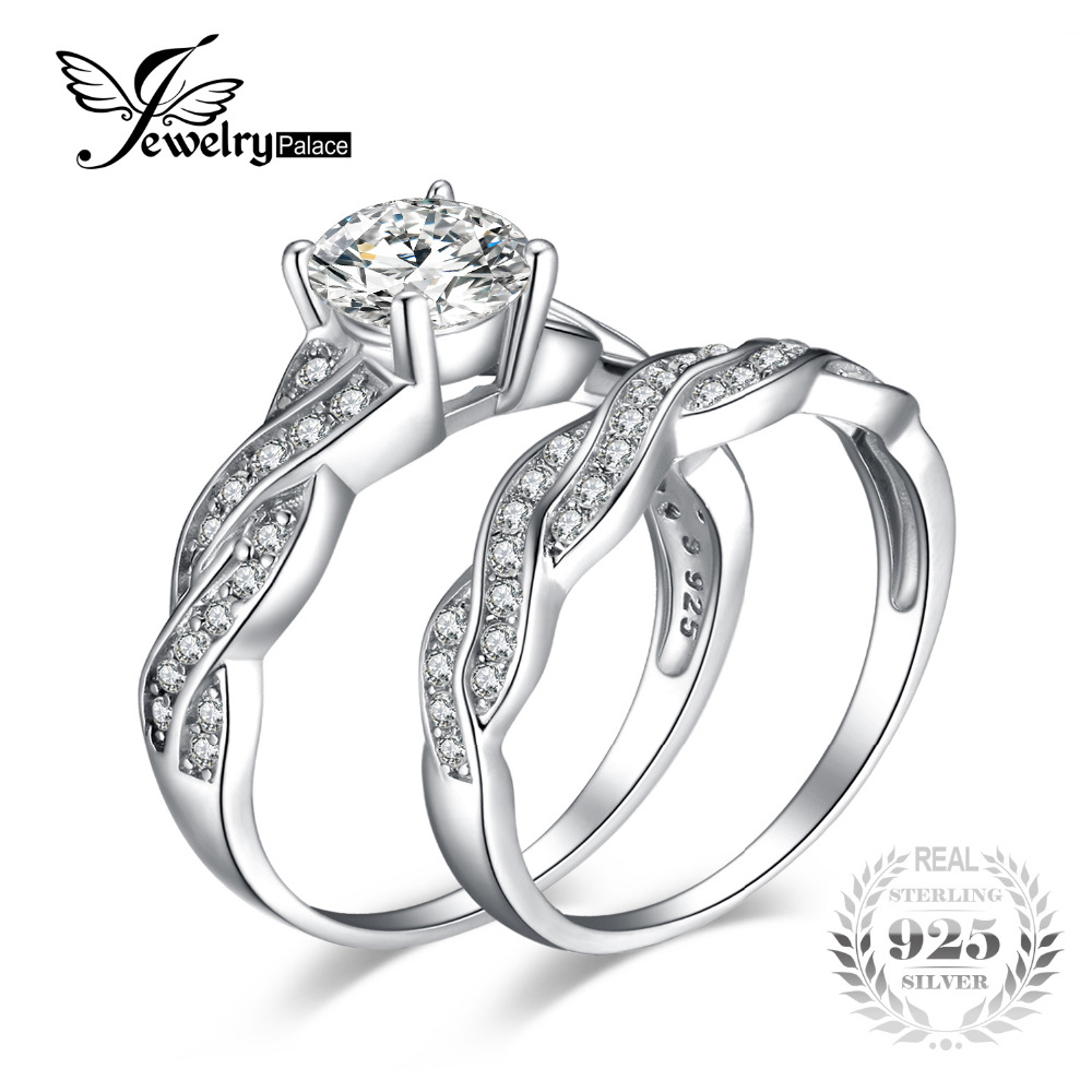 sterling silver wedding ring jewelrypalace infinity 1 5ct simulated anniversary 7706