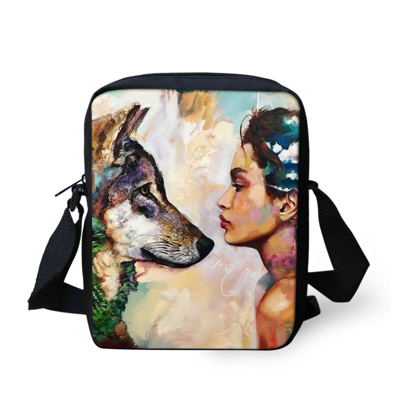 New Fashion 3D Paintings Crossbody Bags For Teens Causal Handbag Flap Small Shoulder Bag For Boys Girls Mini Messenger Bags(China)