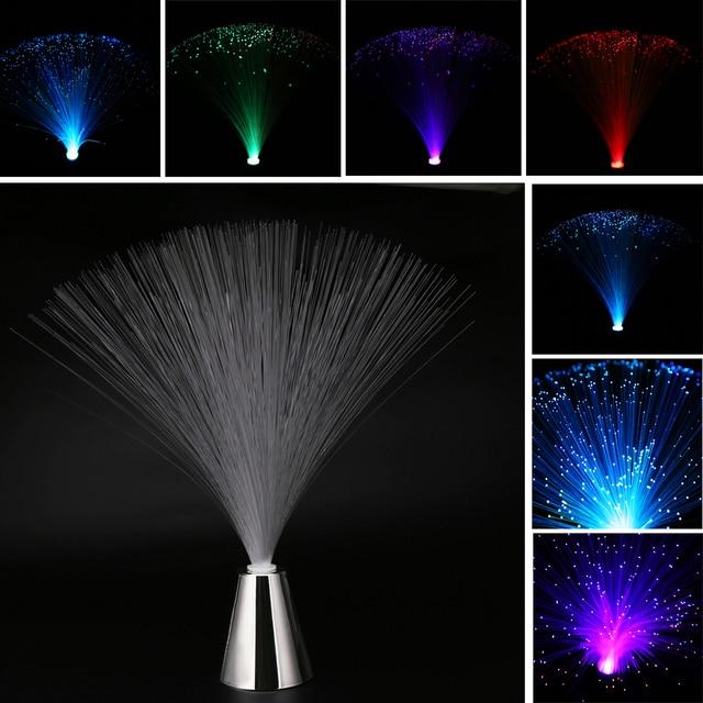 Us 27 35 Offzmiana Koloru Led światłowodowe Lampa Fontanna Noc Lekki Statyw Do Dekoracji Domu świąteczne Oświetlenie Dekoracyjne W Zmiana Koloru