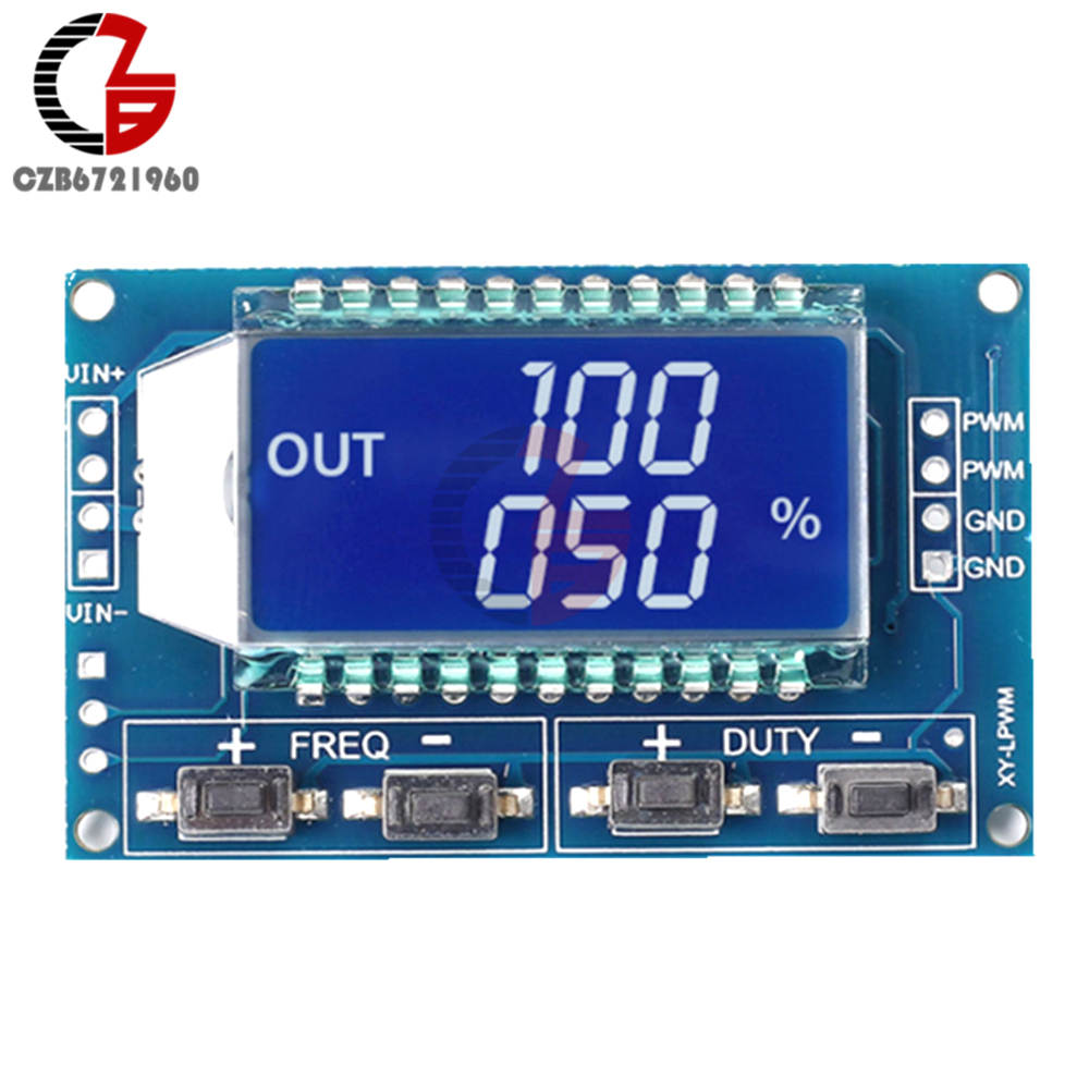 1hz 150khz Signal Generator Module Adjustable Pwm Pulse Frequency Stepper Motor Controller Speed Function Duty Cycle Ttl Lcd Display 5v Dc 12v 24v In Generators From