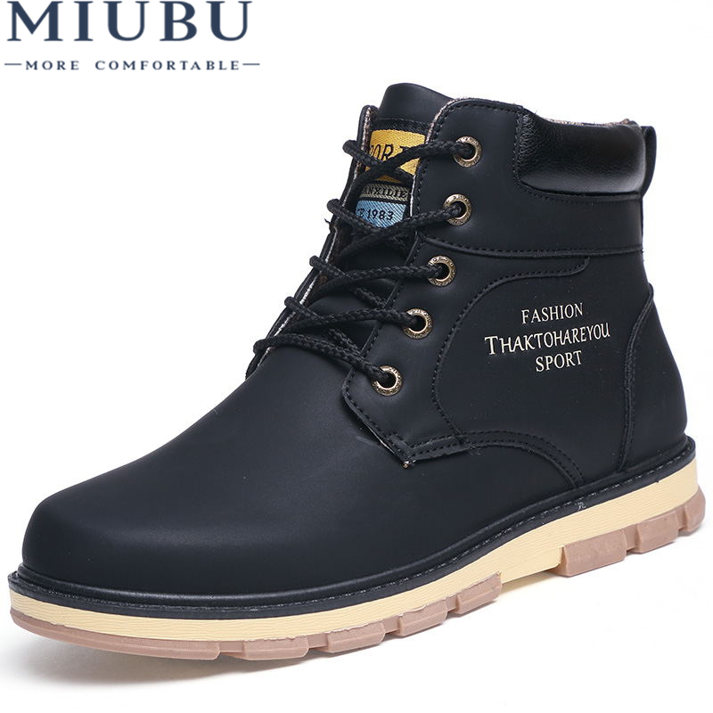 6d3e344eb794 MIUBU Brand Hot Newest Keep Warm Men Winter Boots High Quality pu Leather  Wear Resisting Casual