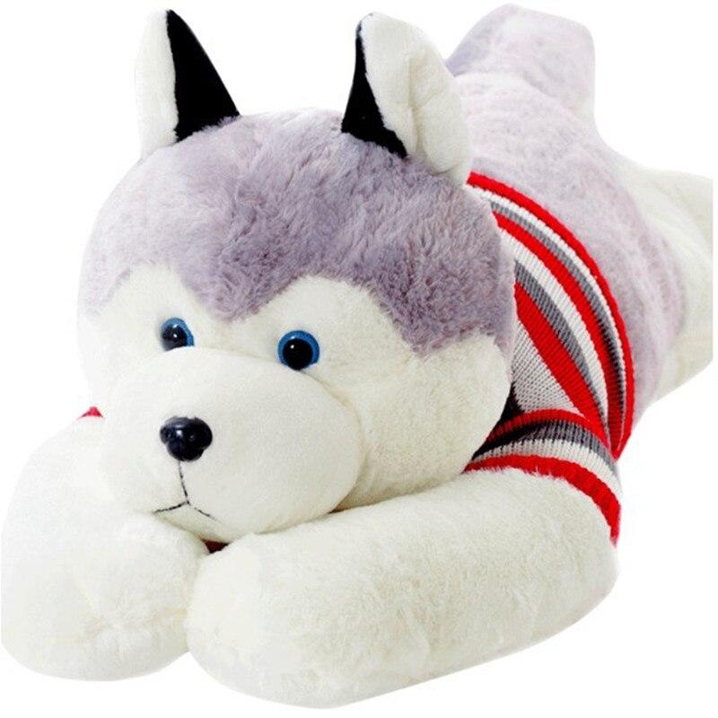 200 cm-160 cm grand Husky peluche chien, enfants et filles cadeau d'anniversaire, tout le réseau prix le plus bas poupée en vente