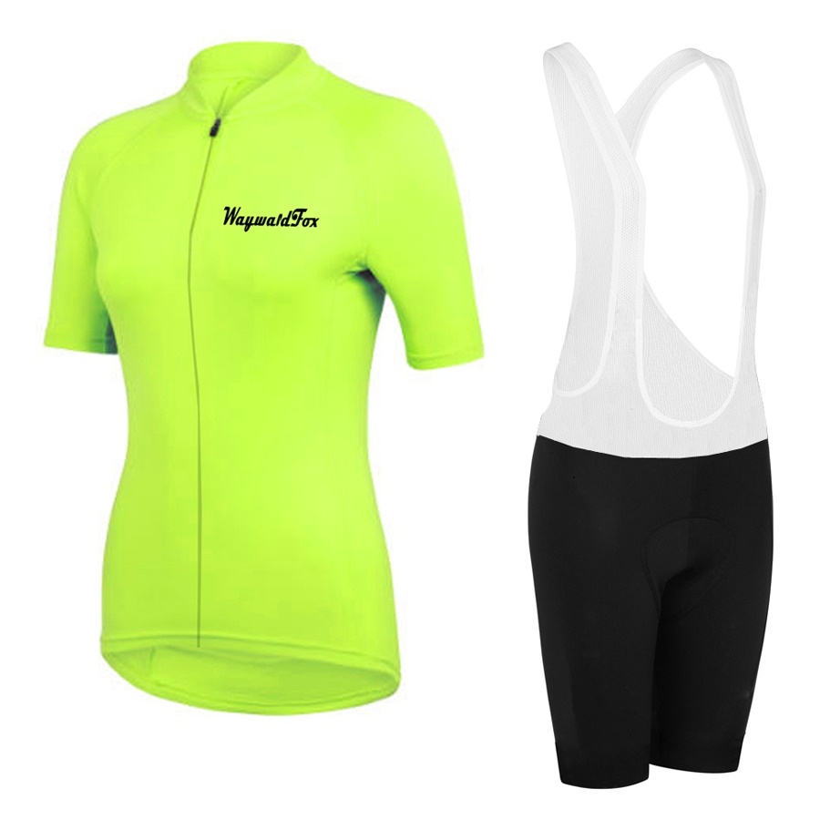 2018 Cycling jersey Women short sleeve Jersey sets ropa Ciclismo Mountain Bike bib shorts yellow green red short kit clothing santic short sleeve cycling jersey bib shorts pad sets conjunto ciclismo manga cycling bike sports clothing mct031