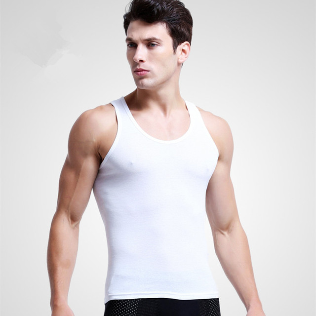 d2ce4d80 3pcs/lot Man's 100% Cotton Solid Seamless Underwear Brand Clothing Mens  Sleeveless Tank Vest Comfortable Undershirt Undershirts-in Undershirts from  ...