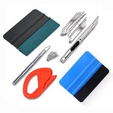 FOSHIO Carbon Fiber Vinyl Film Wrapping Tools Window Tint Squeegee Scraper Set Auto Sticker Knife Cutter Car Wrap Accessories