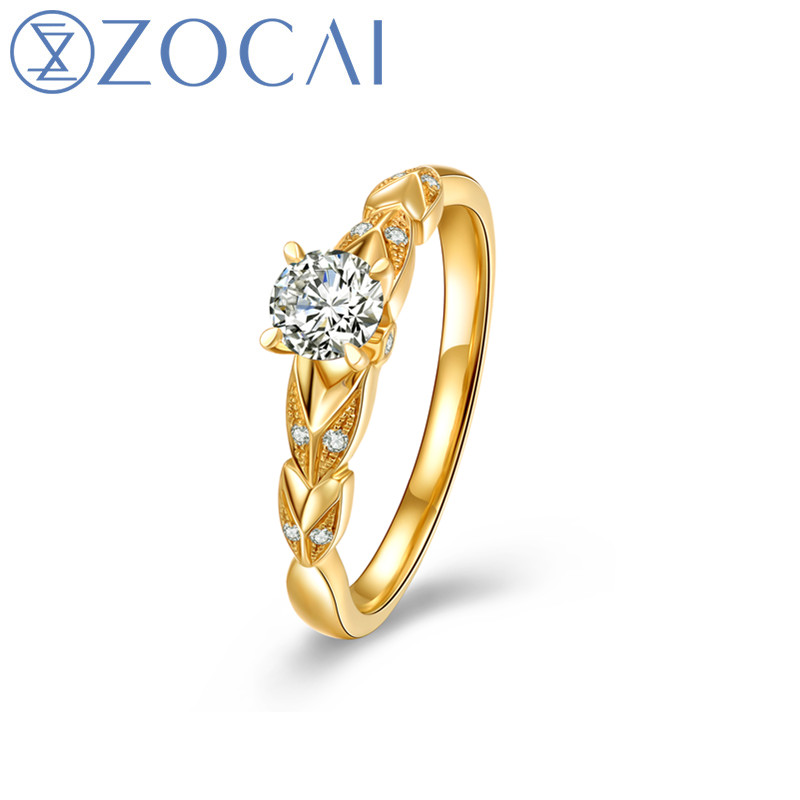 ZOCAI New Design Wedding Ring 0.3 CT Natural Diamond F-G/SI 18k Yellow Gold Ring(AU750) Free engrave JBW00963ZOCAI New Design Wedding Ring 0.3 CT Natural Diamond F-G/SI 18k Yellow Gold Ring(AU750) Free engrave JBW00963