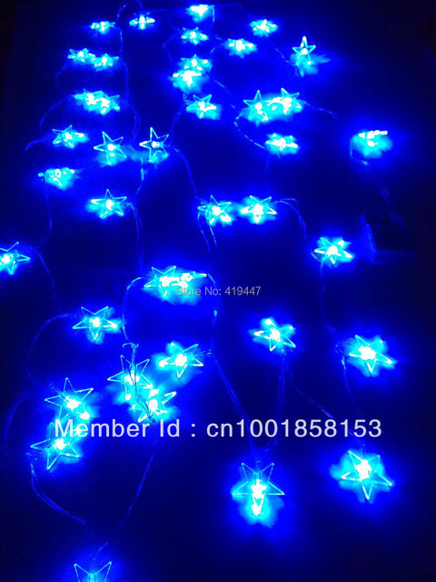 4m 40 led blue star fairy light string romanticfairy battery operated blue xmas party lamp