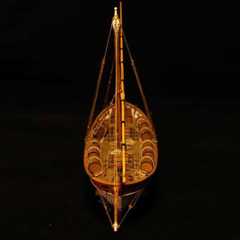ערכות מודלים רכבת Diy תחביב דגם ספינת עץ-עץ 3d Cut הלייזר סירות-בקנה מידה 1/48 מודל-ספינה-Leudo1800-1900 חינוכיים הרכבה