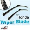 "2 pcs 28 ""+ 14"" bracketless suave oem aero bracketless pára wiper blades limpa para honda fit 2009-2011"
