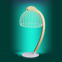 1Piece 3D Lamp Dome Led Reading Luminous Lampshades Hologram Optical Illusion Novelty Light Wood No Battery Required DC Gift