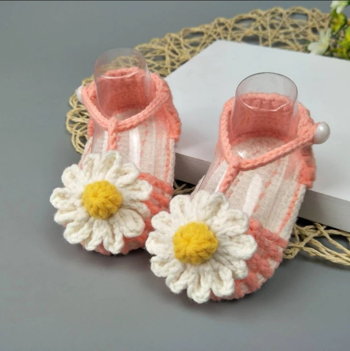 QYFLYXUEQYFLYXUE-  Handmade Crochet Handmade Wool Crochet Knitted Baby Shoes, Sandals Garden Shoes, Newborn Shoes, Baby Gifts