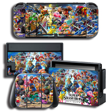 Protector Cover Decal Vinyl Skin Sticker for Nintendo Switch NS Console+Controller+Stand Holder Smash Brothers sticker