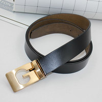Newest Designer Belts Men High Quality Cowskin Genuine Leather Thread Grain Luxury Mens Belt Metals Alloys Smooth Buckle