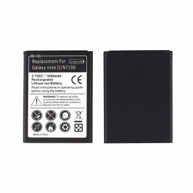 High Quality 3.7V 3500mAh Replacement Phone Battery for Samsung Galaxy Note 2 II GT-N7100 N7100 Battery Li-ion Batteria Bateria