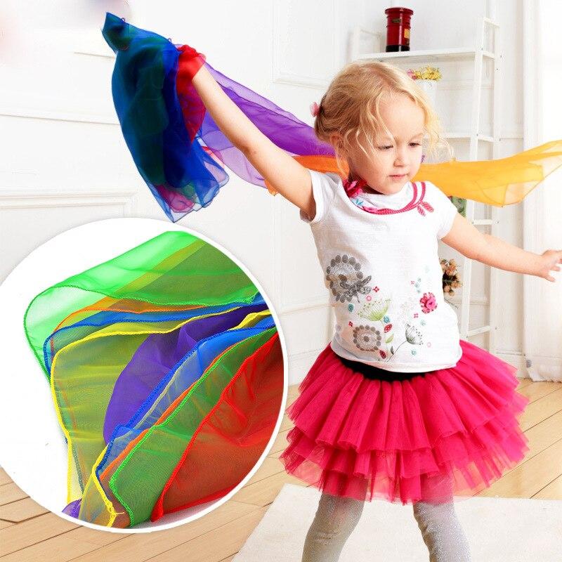 4 pièces Enfants gymnastique foulards pour le jeu en plein air jouets/Enfants Enfant parent interactif mouchoir jouets éducatifs GYH
