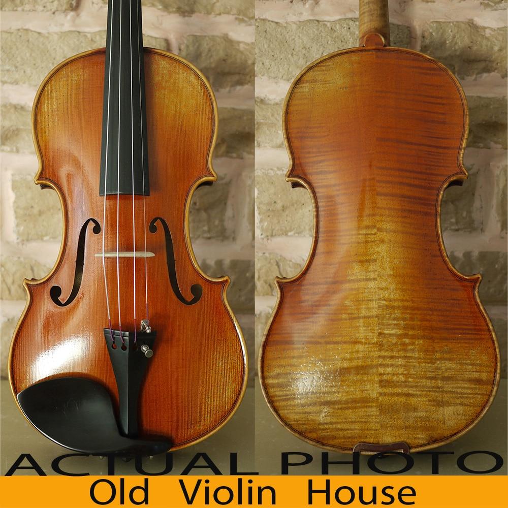 Carpathian Spruce Guarneri Del Gesu 1737 Violin Modle With Lable. Aubert Bridge, Antique varnish, No.2863 austrian spruce ch j b collion mezin copy french master violin no 1408 nice sound antique violin100% handmade