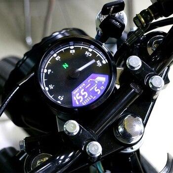 אופנוע מד Lcd דיגיטלי מחוון Tachometer מד מרחק מד מהירות שמן מטר משולב עם לילה חיוג