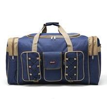 Для мужчин дорожные сумки Универсальный Оксфорд черный путешествия вещевой мешок 65 см большой ёмкость красный Компактная сумка для поездки