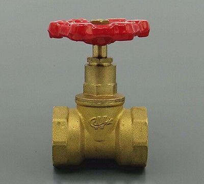 Brass shut off valve 1-1/2