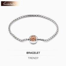 Bracelets Or Rose Lien Chaîne 925 En Argent Sterling De Mode Bijoux pour Femmes Hommes Ts Trendy Cadeau Thomas Style Karma Perle Bracelet