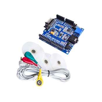 ECG/EKG/EMG Shield for Arduino with Cables and Electrodes - DISCOUNT ITEM  5% OFF All Category