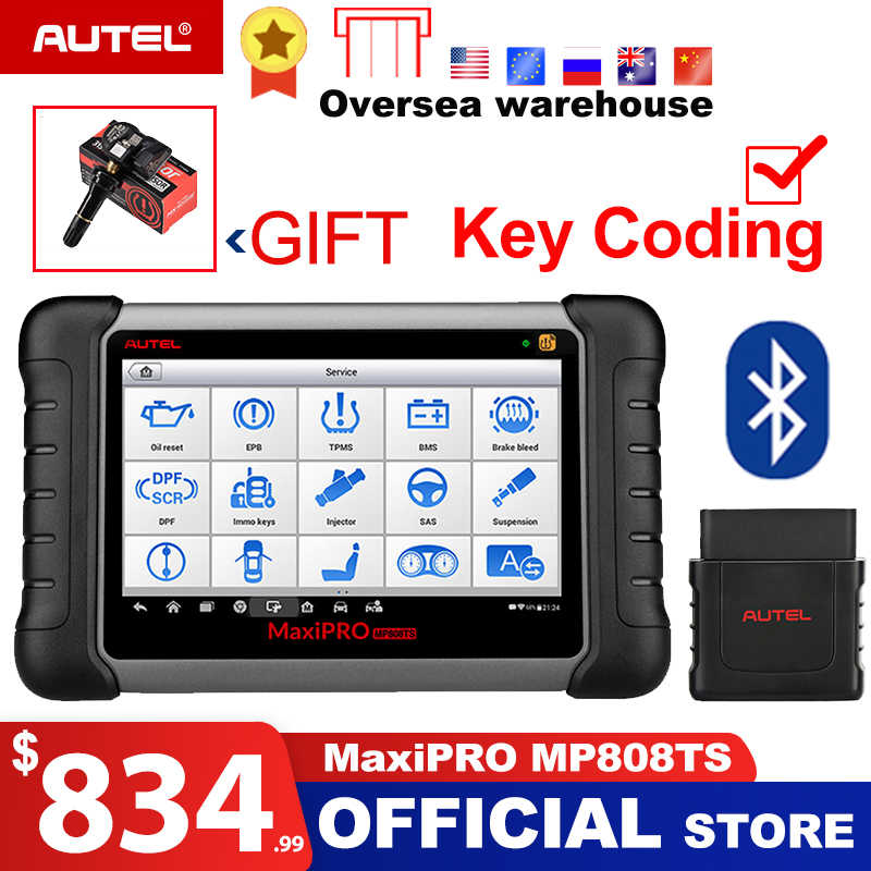 Autel MaxiPRO MP808TS OBDII Car Automotive Diagnostic Tool OBD2 Scanner OBD 2 Code Reader as DS808 Add TPMS Functions PK MS906