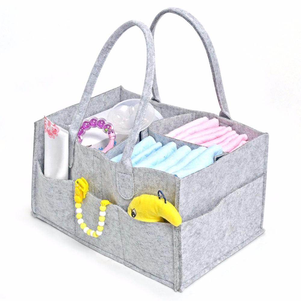 Felt Baby Diapers Bag For Stroller Mummy Nappy Changing Bag Milk Bottle Storage Bag Multifunctional Maternity Handbags Organizer