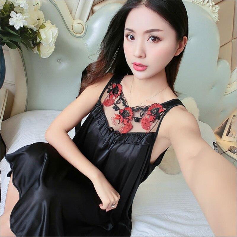 Women Casual Chemise 12 Color Nightie Nightwear Lingerie Nightdress Sleepwear Dress Hot Sale Plus Size New Sexy Silk Nightgowns 4