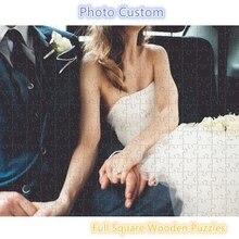 Ddwe 1000 Stuks Foto Custom Houten Gepersonaliseerde Puzzel Volledige Vierkante Foto Diy Speelgoed Voor Volwassenen Decoratie Collectiable