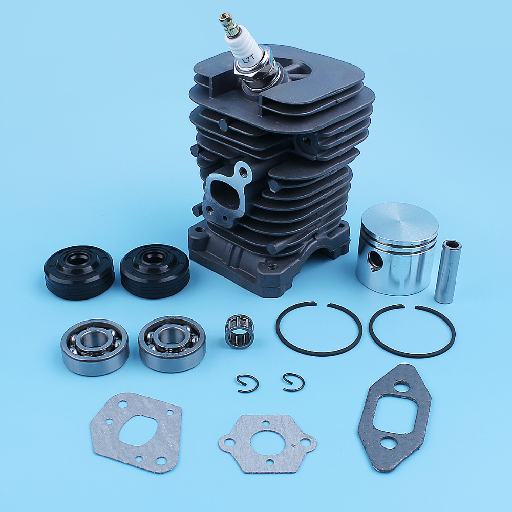 Cylinder Piston Ring Crank Bearing Seal Kit For Poulan PP220 PP221 PP260 1950 2150 2250 2450 2550 SM4018 Chainsaw Spare Part