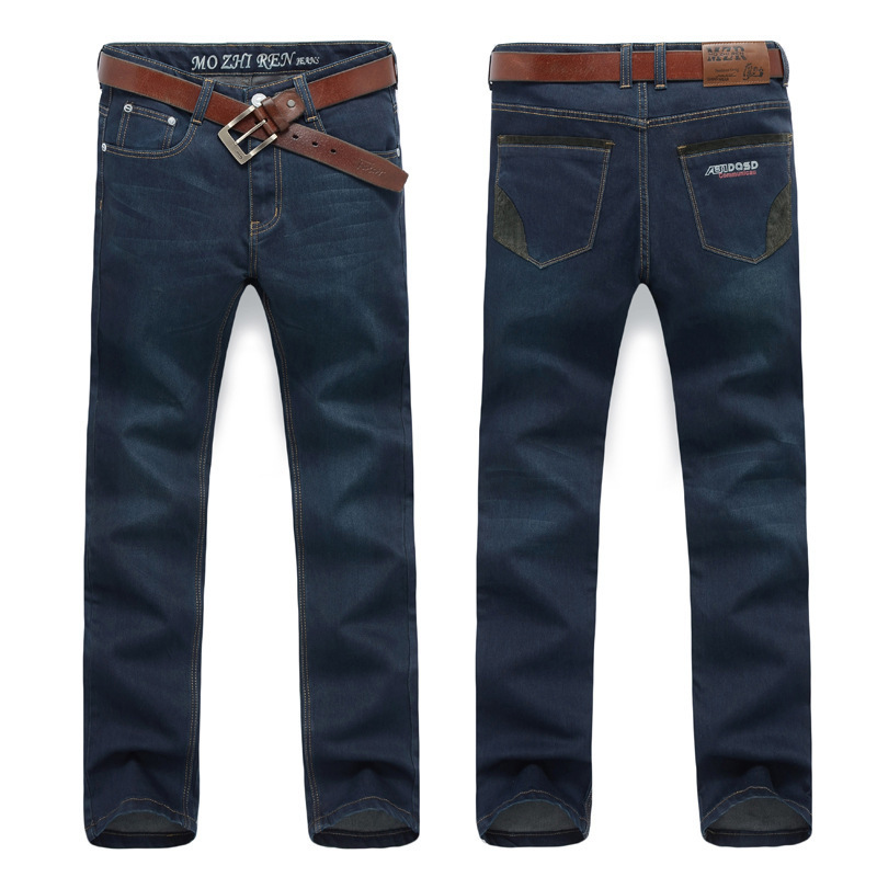 Famous Brand Trousers Men Blue Slim Denim Pants Casual Big Size Biker Jeans Designer Classical Fashion Jean Homme new men slim straight locomotive jeans denim jeans cowboy fashion business designer famous brand men s jeans trousers pant 29 36