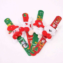 2016 1PCs Christmas wrist Santa Claus circle bracelet gift fork ID spatting snow man circle new year party Christmas Decorations