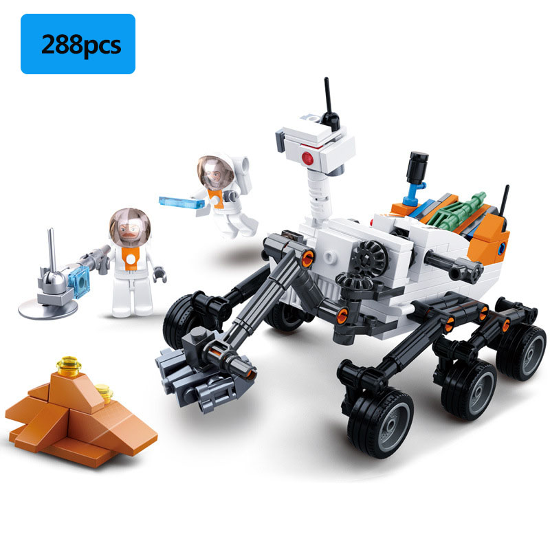288pcs Military Series Space Science Discovers Curiosity Mars Rover Astronaut Mini Action Figures Building Blocks Toys