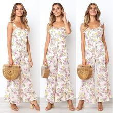 2019 New Yfashion Women Summer Sexy Backless Sleeveless Sling Rompers  Jumpsuit