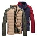 T china baratos por atacado 2016 outono inverno new men slim moda Manter-quente de algodão acolchoado jaqueta masculina estande casuais gola do casaco