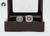 Bottom Price For Ring Sets With Wooden Boxes Replica Ice Hockey Copper 2pcs Packs Chigaco Bears