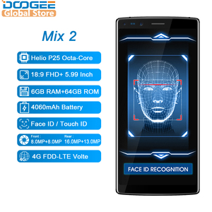 Image 2 - DOOGEE Mix 2 Android 7.1 4060mAh 5,99 zoll FHD + Helio P25 Octa Core 6GB RAM 64GB ROM smartphones Quad Kamera 16,0 + 13,0 megapixel