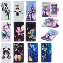 Wallet Phone Cases for iPhone 6s Leather Cover Cute Case for iPhone 6 Plus Panda Owl Butterfly for Coque iPhone 6 s Fundas Shell imprinted fairy and butterfly pattern crystal decor leather wallet stand cover for iphone 6s plus 6 plus green