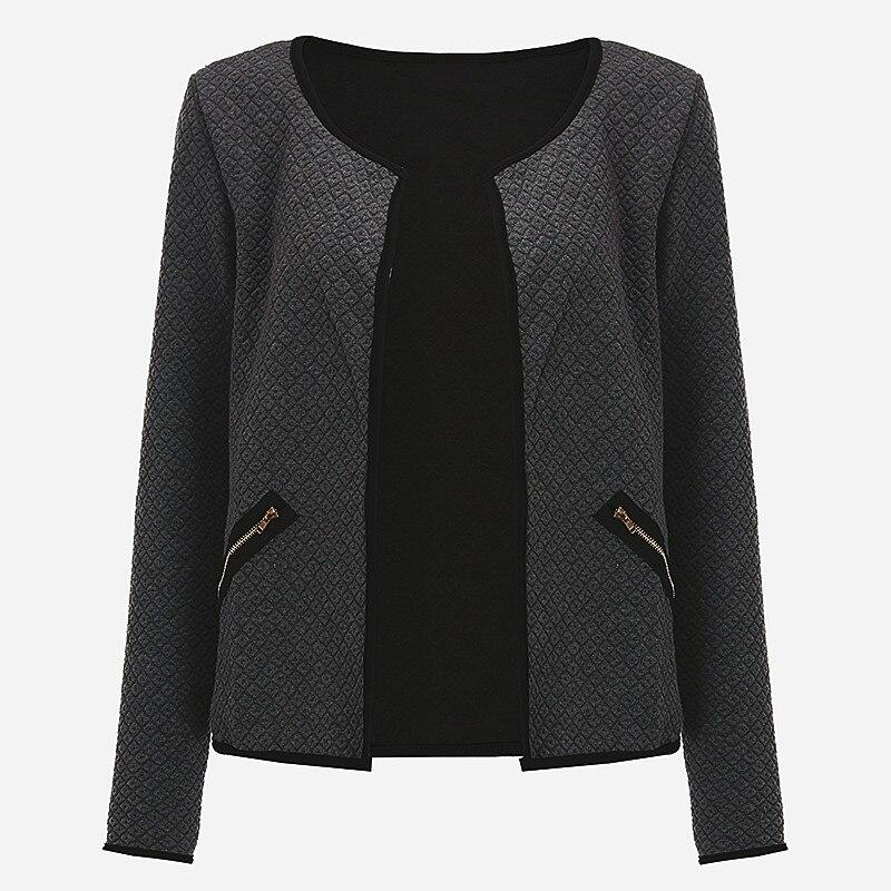 CNCOMNET Big Yard Autumn Plaid Thin Coats Women Short Jackets Casual Slim Long Sleeve Blazers Cardigans Female Outwear Suits 4XL