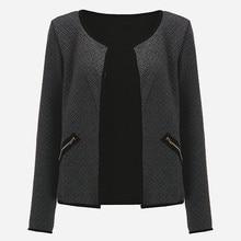 CNCOMNET Big Yard Autumn Plaid Thin Coats Women Short Jackets Casual Slim Long Sleeve Blaze