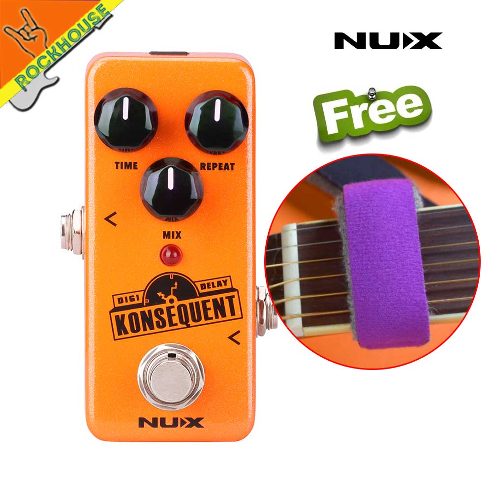 New NUX Konsequent Digital Delay Guitar Effects Pedal Digital Delay Pedal with Upgraded hardware True Bypass Free Shipping nux ad 3 new arrival guitar effects pedal analog delay effect 300ms max delay time warm echoes sound true bypass free shipping