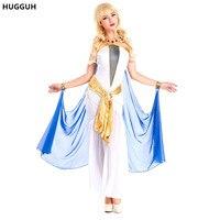 Hugguh brand new meninas princess dress do egito dramatização pavão halloween traje cosplay mulheres sexy dress h17385