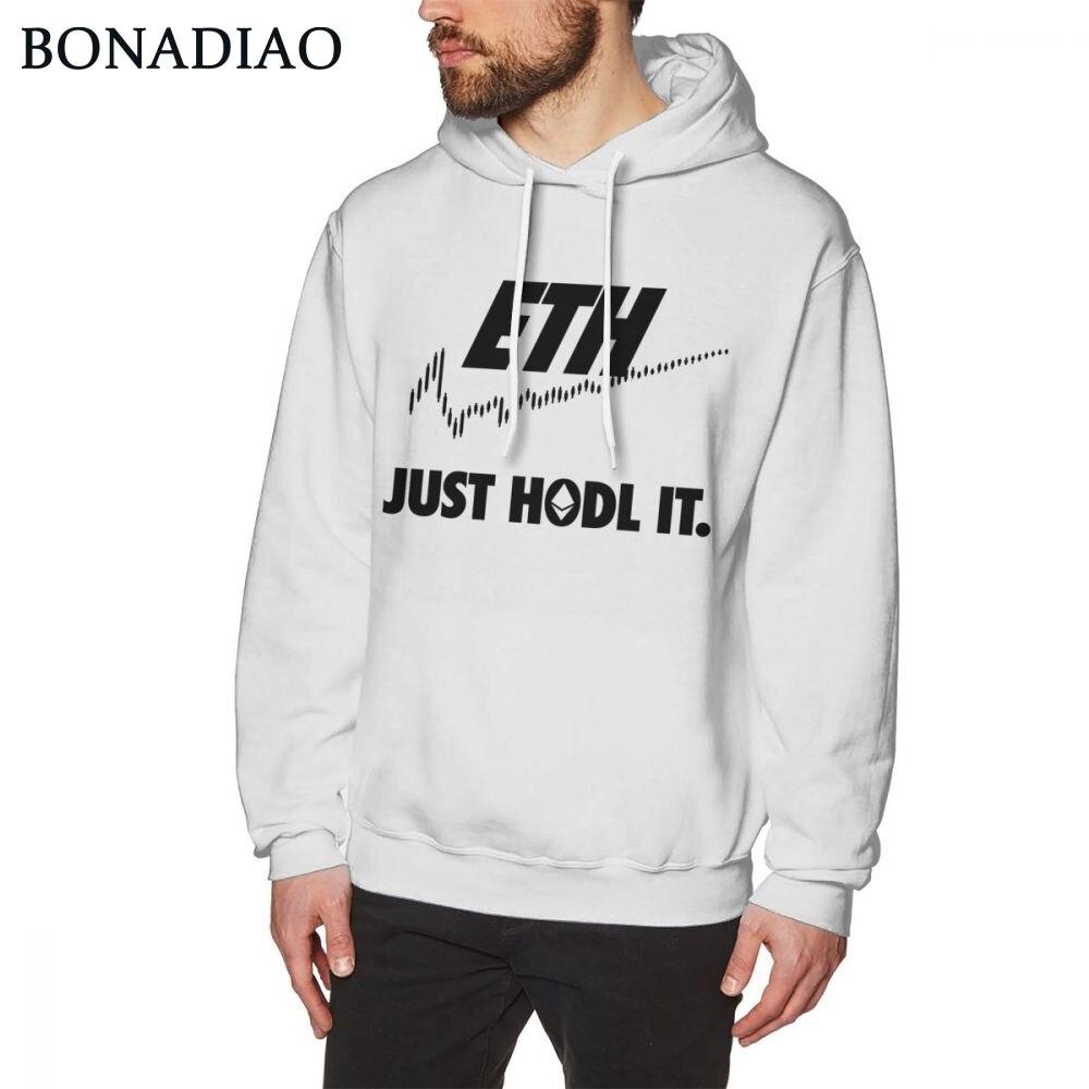 Sweat-shirt haute qualité unisexe Ethereum Bitcoin Just HODL It impression 3D offre spéciale sweat-shirts à capuche populaires à col rond