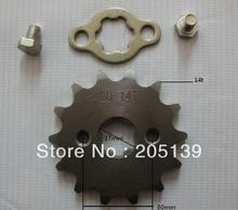 NEW 14 t tooth 17MM FRONT ENGINES sprocket FOR 420 CHAIN motorcycle MOTO PIT dirt ATV parts bike