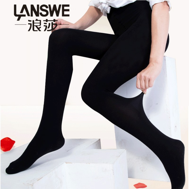 LANSWE 2pcs/lot High quality anti-hook women thickening tights solid lady winter Brand Pantyhose Lansha