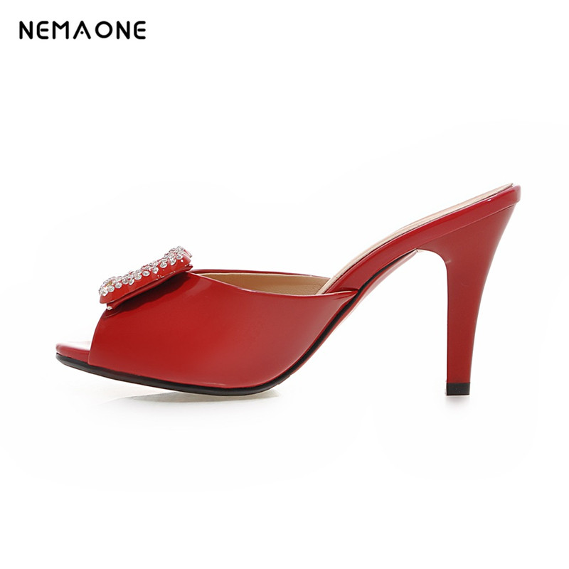 NEMAONE New sexy high heels sandals women peep toe women slippers casual shoes woman summer style women sandals big size 34-43