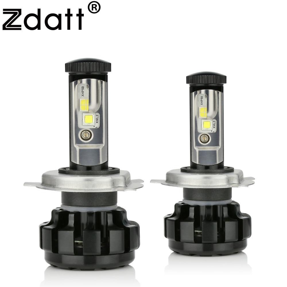 Zdatt Super Bright H4 Led Bulb 100W 14000LM Headlight Canbus H7 H8 H9 H11 9005 HB3