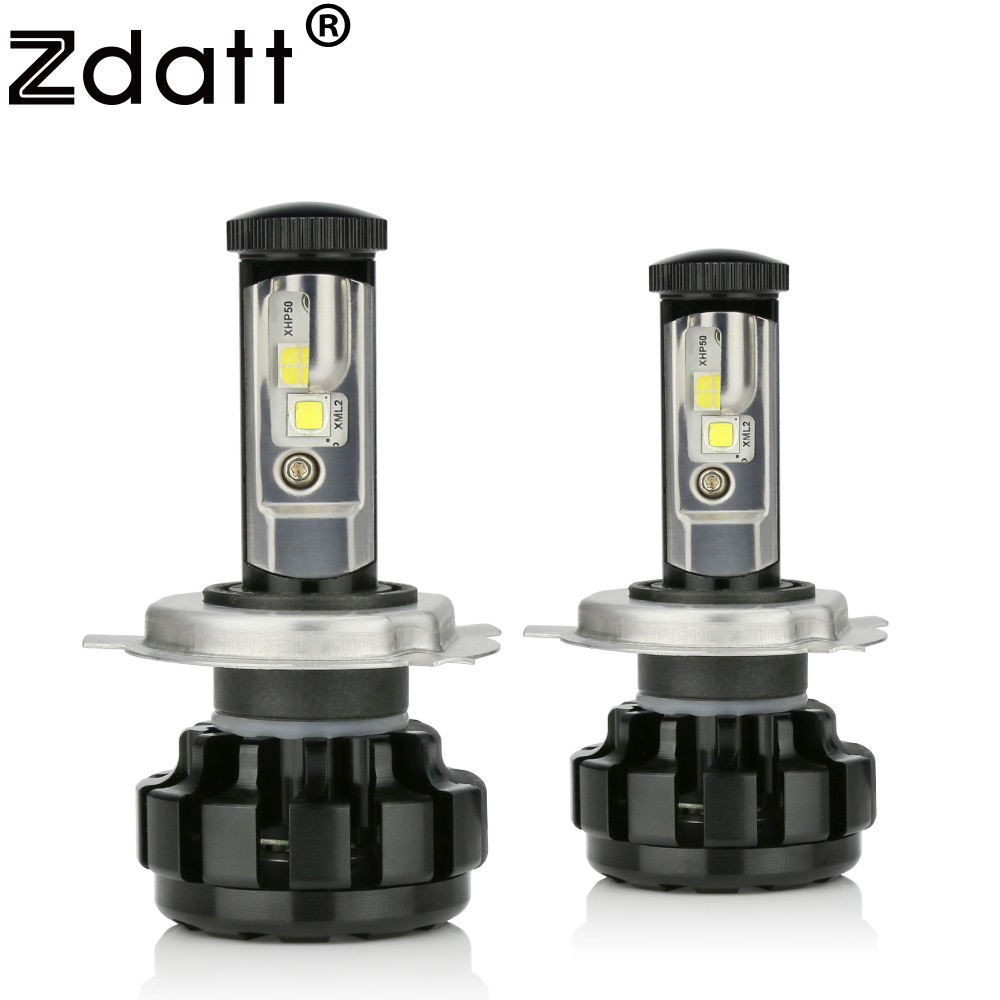 Zdatt 1 пара супер яркий H4 светодиодные лампы 12000LM фар Canbus H7 H8 H9 H11 9005 HB3 автомобиль свет 12 В туман лампа автомобилей светодиоды светодиодные ламп...