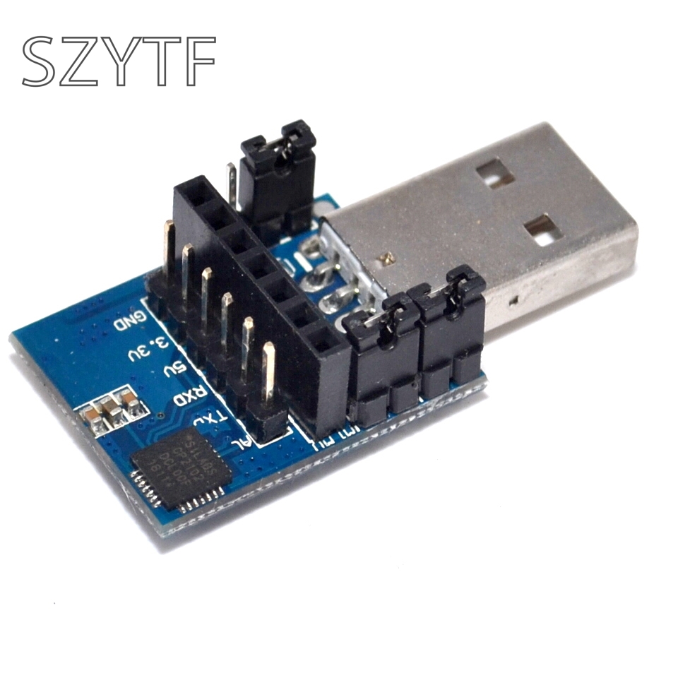 2.4G CP2102 433M Wireless Serielles Module USB to TTL 3.3V 5V Adapter Board
